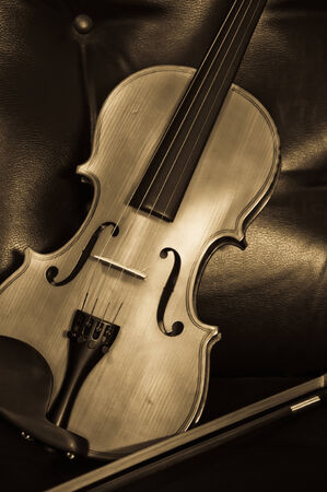 Vintage of violin and fiddle photo