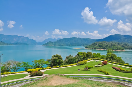 View of lake  Khao Sok National Park  Thailand   photo
