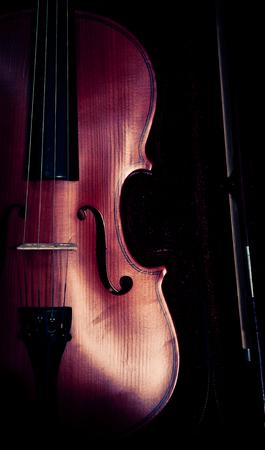 Vintage of violin and fiddle