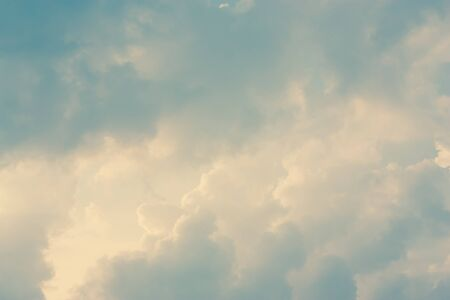 heaven background: Blue sky, clouds and sunlight background Stock Photo