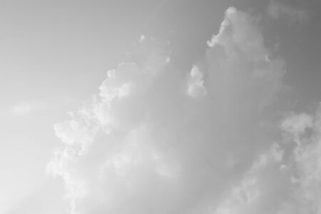 cloud background: Black and white of sky and clouds background Stock Photo