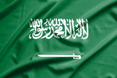 viento: Bandera de Arabia Saudita
