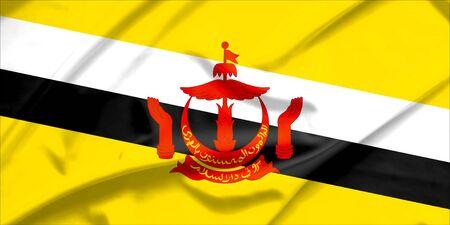 brunei darussalam: Brunei Darussalam flag Stock Photo