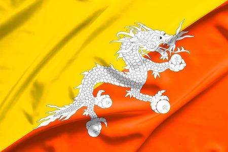 bhutan: Bhutan flag Stock Photo