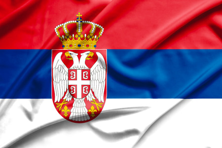 serbia flag Stock Photo