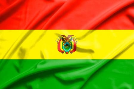bandera de bolivia: Bolivia bandera en la textura de la seda suave y lisa