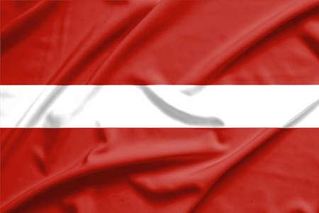 latvia flag: latvia flag on soft and smooth silk texture