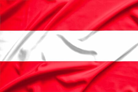 austria: austria flag on soft and smooth silk texture
