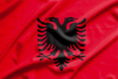 albania: albania flag Stock Photo