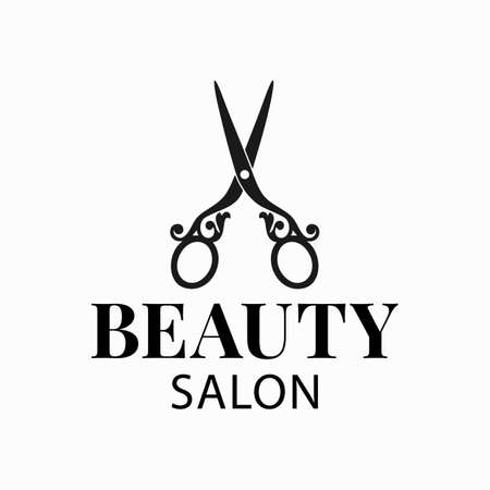 for a hairdresser, beauty salon, barber shop or tailoring studio. Vector illustration.