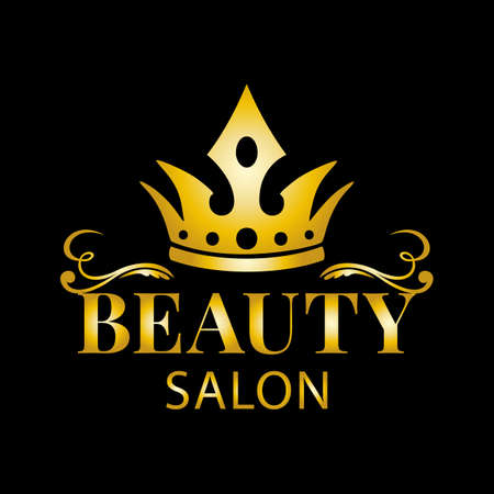 template for a beauty salon. Vector illustration.