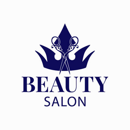 template for a beauty salon or hairdresser. Vector illustration.