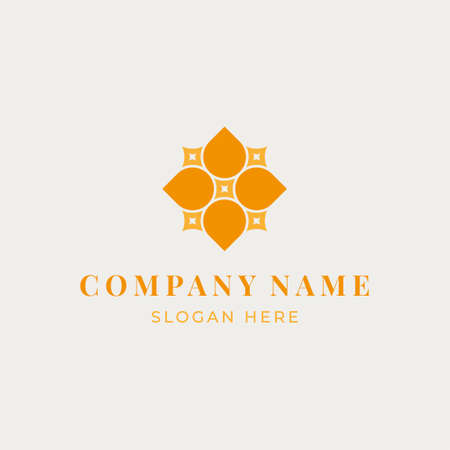 Logo concept for a natural women's clothing store, cosmetics, home textiles, spa, hammam or beauty salon. A symbol for business. Vector illustration.