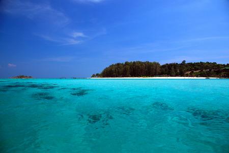 andaman sea: Landscape of Andaman Sea with sea coast and blue sky in Lipe Island, Southern Thailand.