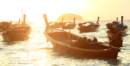 fishingboat: Local fishing boat in Andaman sea, Thailand