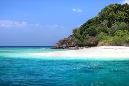 Landscape of Andaman Sea with sea coast and blue sky in Lipe Island, Sounthern Thailand. Stock Photo - 43971797