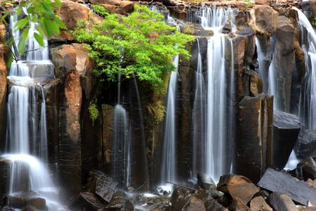 waterfall in the forest: Closeup of wachirathan waterfall, Inthanon National Park, Thailand.
