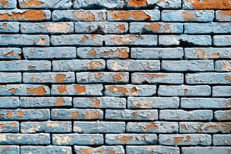 peeling paint: Peeling paint brick wall background texture.
