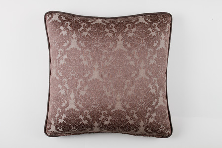 white pillow: Decorative Pillow in victorian style isolated on white background, Luxury pillow.