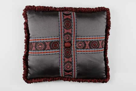 kingsize: Decorative Pillow in victorian style isolated on white background, Luxury pillow.