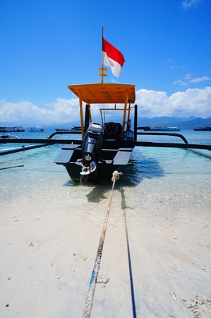 Local traditional boat Gili Island, Lombok, Indonesia photo