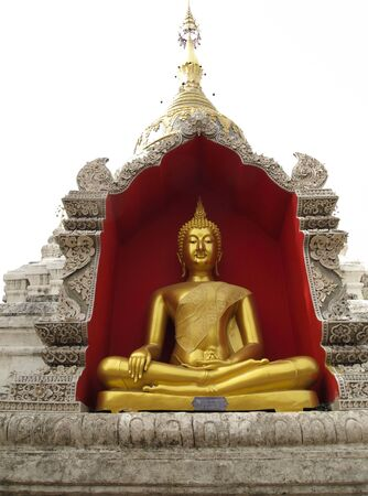 chiangmai: Golden Buddha in Chiang Mai Temple