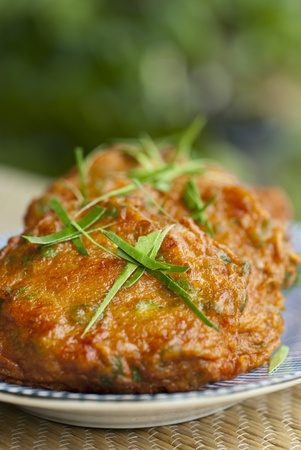 Thai Fish Cakes Stock Photo