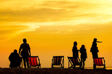 Beach family sunset photo