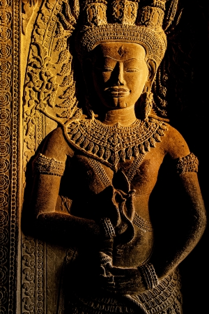 Apsara, Angkor Wat Фото со стока