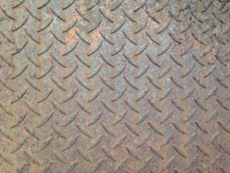 steel: rusty diamond steel sheet metal plate