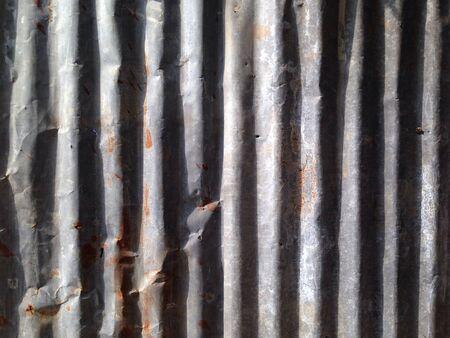 industrieel: Roestige metalen muur Stockfoto