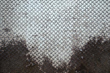 diamondplate: grunge rusty metal background Stock Photo
