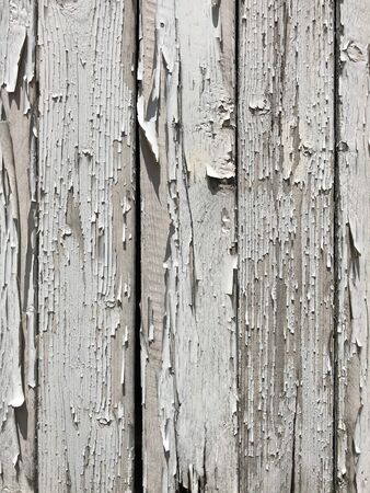 White old wood peeling background