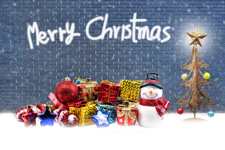Christmas background with text space