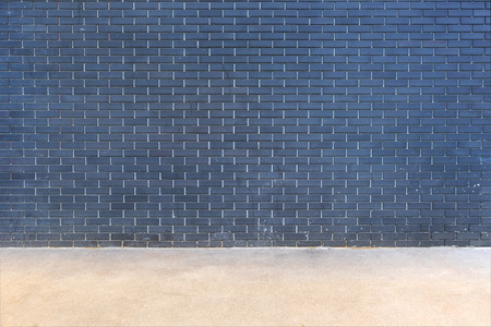 modern dark brick wall background with floor
