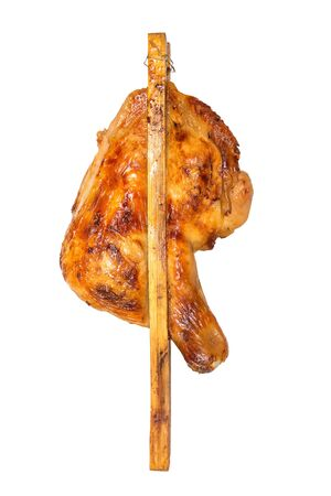 Roasted Grilled Chicken or Grilled Chicken isolated on white with clipping path