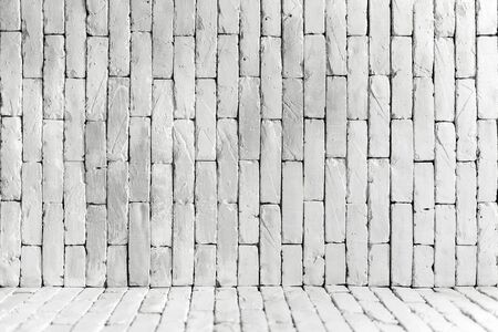 white brick wall background in rural room Фото со стока