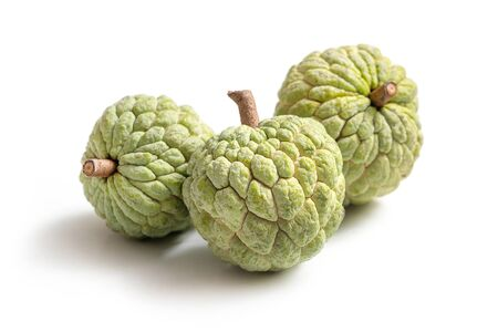 custard apple isolated on white background Фото со стока