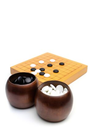 ancient board game iGO, Weiqi, Baduk'  - strategy board game with black and white stone