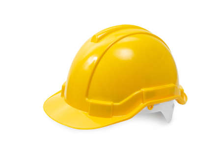 construction hard hat - safety helmet used in workplace environments such as industrial or construction sites to protect head from injury due to falling objects, impact with other objects and electric shock