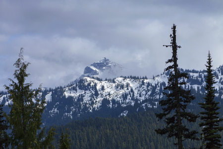 pct: Cascade Mountains - Snowy Cascade mountains in Northern Washington on the pacific crest trail.