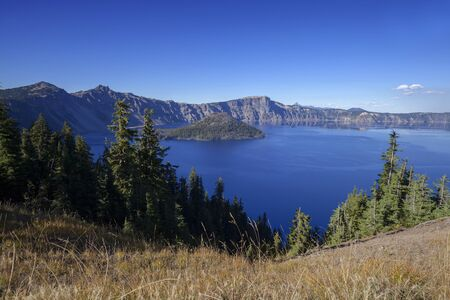 Crater Lake Blue - The bluest water at Crater Lake National Park.