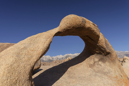 Alabama Hills - A historic symbol of the American West with Mt. Whitney in the background.