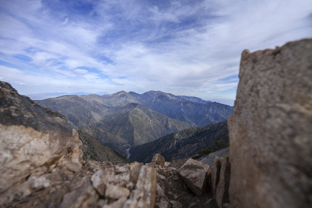 San Gabriel Mountains - Atop Mount Baden-Powell on the Pacific Crest Trail. 스톡 콘텐츠