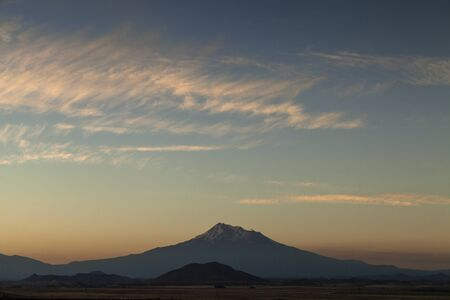 Mt. Shasta - Large stratovolcano in pacific northwest United States.