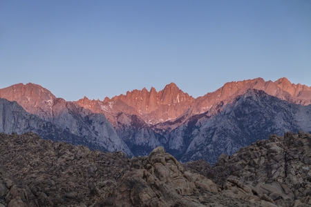 Mount Whitney Sunrise - Sunrise on the tallest mountain in the lower 48 states, Mount Whitney.
