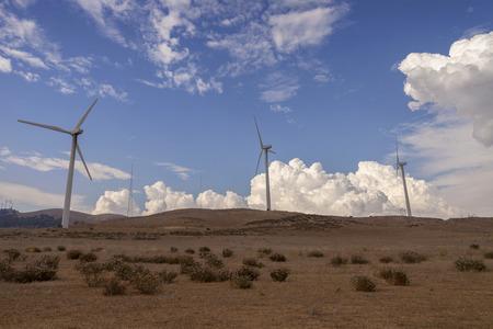 Wind Power - Wind turbines in Mojave desert.