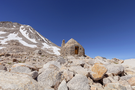 Muir Hut - John Muir Hut on Muir Pass on the Pacific Crest Trail. Stock Photo