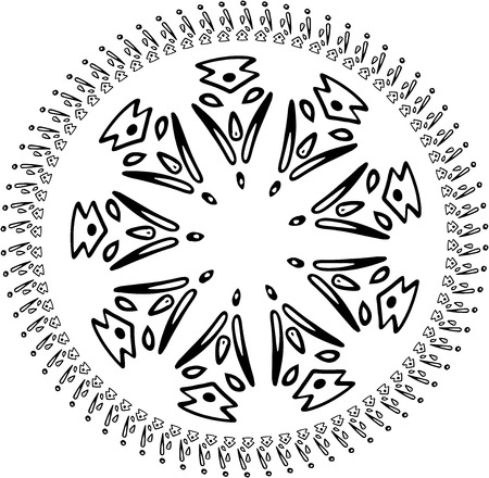 Vector Abstract snowflake of geometric shapes. Christmas. New Year card illustration. Holiday design.