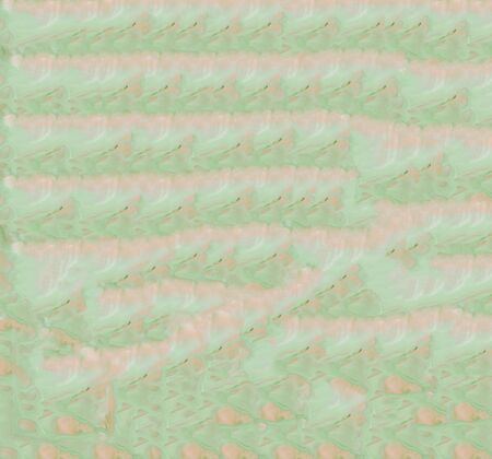 Endless green Hand Drawn Abstract Watercolor Pattern with Floral line Gradient Banco de Imagens